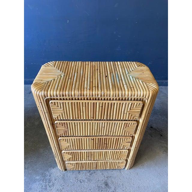 Tan Rattan Dresser For Sale - Image 8 of 9