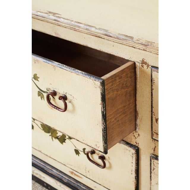 White Country Italian Painted Four-Drawer Commode or Sideboard For Sale - Image 8 of 13