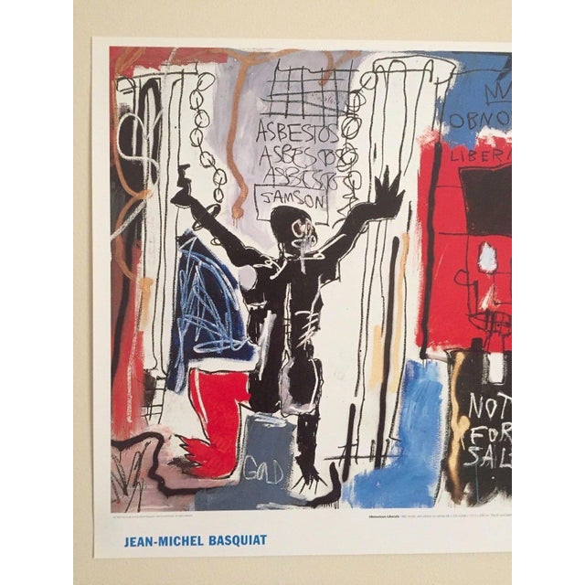 Abstract Jean Michel Basquait Obnoxious Liberals Original Lithograph For Sale