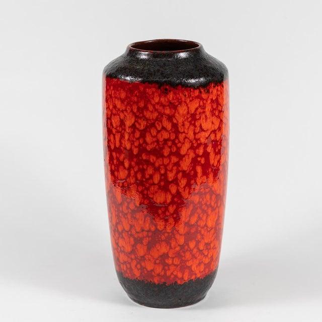 1950s Mid Century Glazed Pottery Vase For Sale - Image 5 of 6