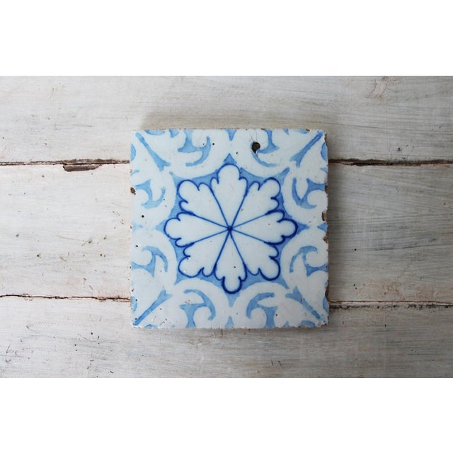 19th Century Portuguese Tin-Glazed Pottery Tile For Sale - Image 10 of 10