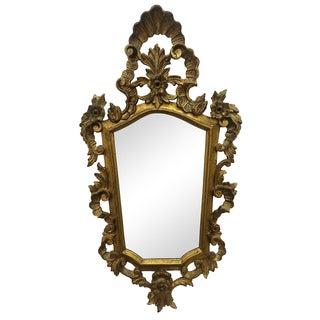 Vintage Italian Carved Giltwood Mirror