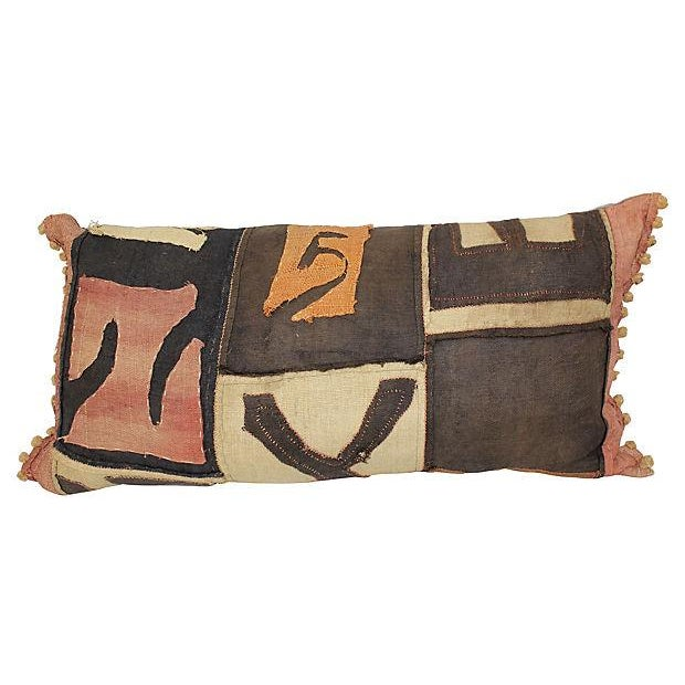 Antique African Kuba Cloth Pillow - Image 1 of 4