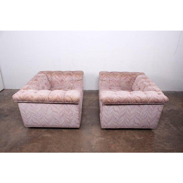 "Pink Pair of Dunbar ""Party"" Lounge Chair by Edward Wormley For Sale - Image 8 of 11"