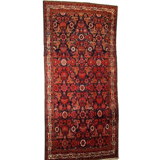 1920s Hand Made Antique Persian Malayer Runner - 5′6″ × 11′7″ For Sale