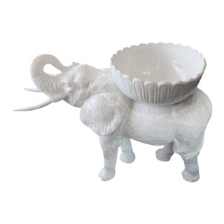 Vintage Italian Life Size Baby Elephant Garden Planter For Sale