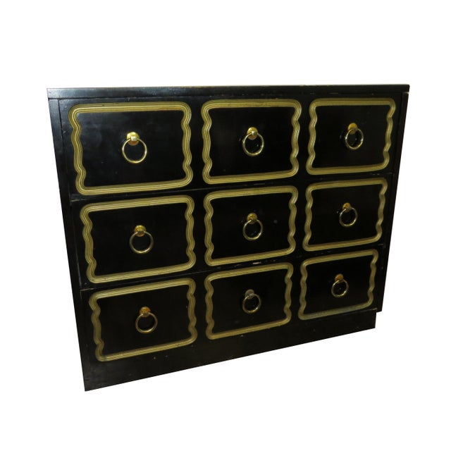 Traditional 1950s Vintage Dorothy Draper Espana Style Chest of Drawers For Sale - Image 3 of 11