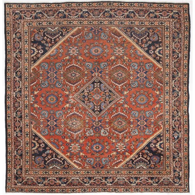 "Antique Hand-Knotted Persian Rug- 10'2""x 10'8"" For Sale"