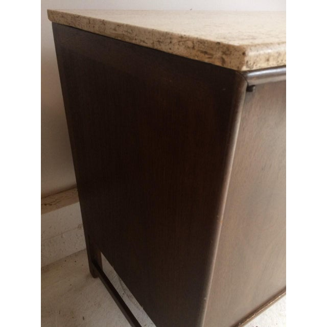 Mid-Century Modern Ray Sabota for John Stuart Curved Credenza With Optional Travertine Stone Top For Sale - Image 3 of 11