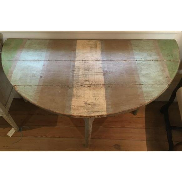 Mid-Century Modern 19th C. Pair of Swedish Demilune Consoles For Sale - Image 3 of 6