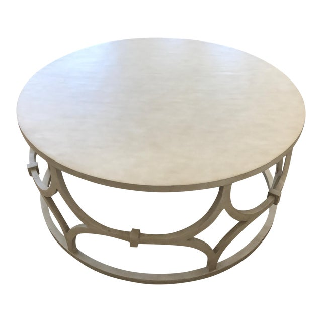 Mr. Brown Antique White Wolfgang Coffee Table - Image 1 of 3