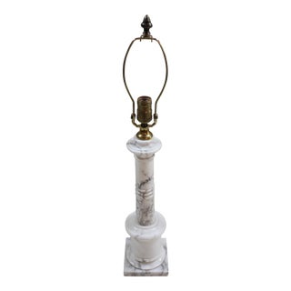 Vintage Mid-Century Neoclassical Style Marble Table Lamp For Sale