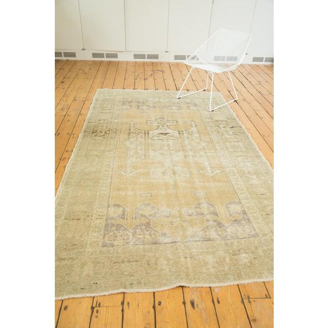 "Textile Vintage Distressed Oushak Carpet - 5'6"" X 9'1"" For Sale - Image 7 of 13"