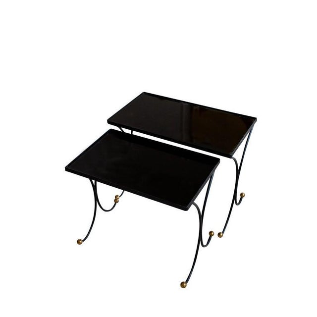 French Jean Royère Style Nesting Tables- Set of 2 For Sale - Image 3 of 8