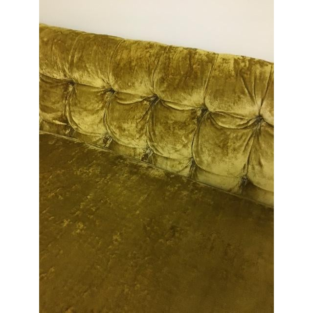 Textile Mid-Century Crushed Gold Velvet Sectional For Sale - Image 7 of 7