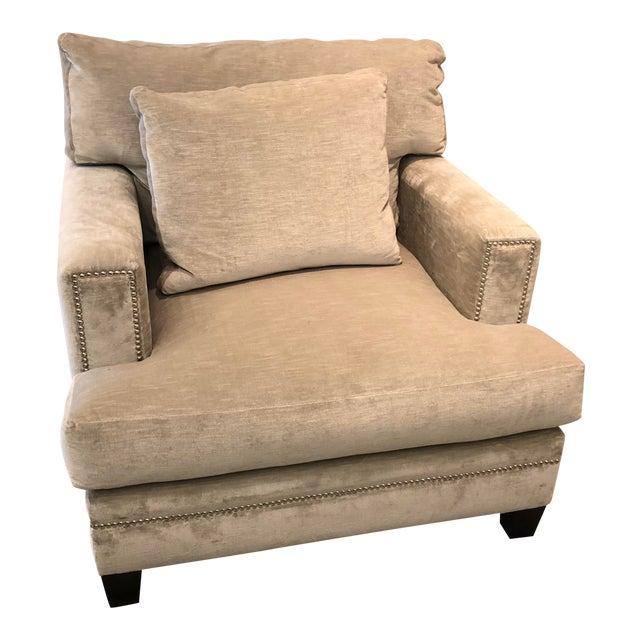 Linen Velvet Gramercy Chair For Sale