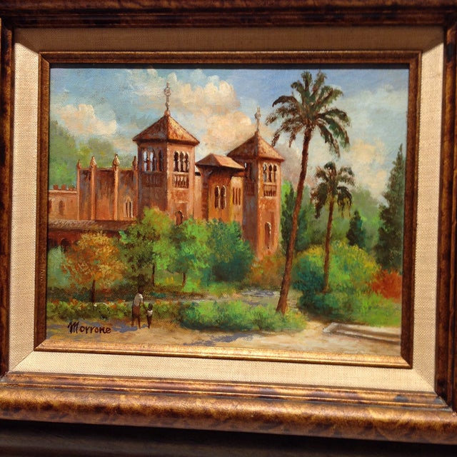 Plaza De America, Seville Spain - Oil Painting For Sale - Image 4 of 11