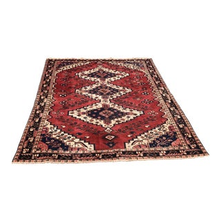 """Vintage Persian Rug - 4'10"""" X 6'4"""" For Sale"""