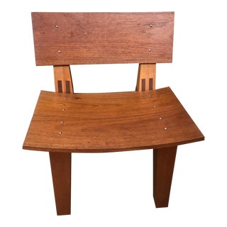 Rob Edley Welborn Spanish Cedar Prototype Lounge Chair For Sale