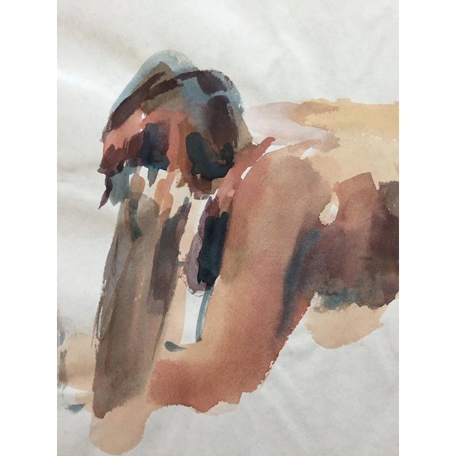 1970's Expressionist Watercolor, Female Nude Study - Image 3 of 4