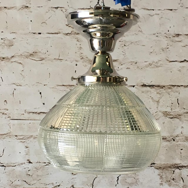 Holophane Art Deco Holophane Kitchen or Bath Light (Four Available) For Sale - Image 4 of 5