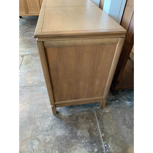 Mid Century Modern - Thomasville Large Oak Credenza For Sale - Image 9 of 10