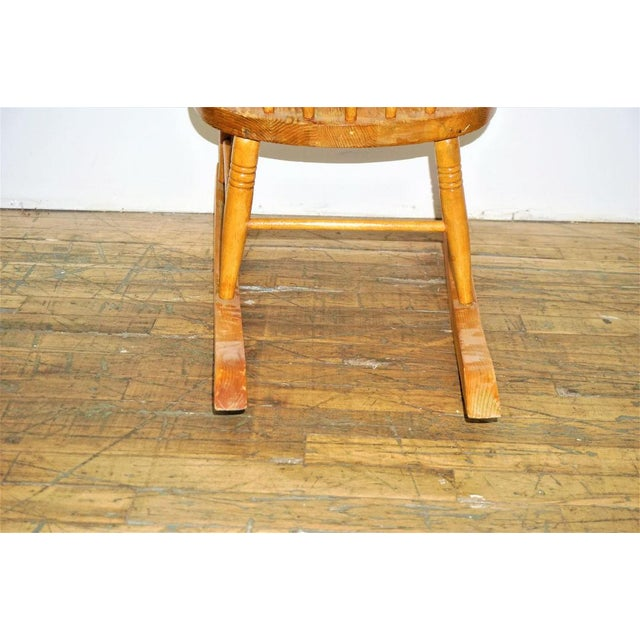 Maple Vintage Russell Wright Maple Wood Rocking Chair For Sale - Image 7 of 9