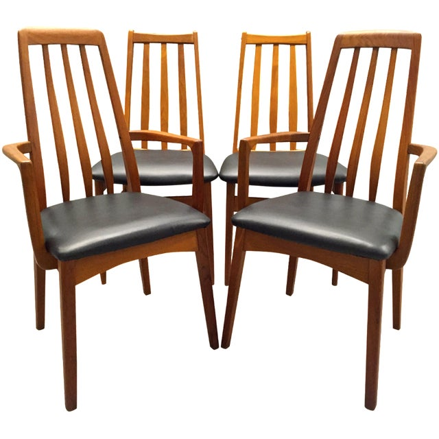 Svegards Marka Teak Dining Chairs - Set of 4 - Image 1 of 11