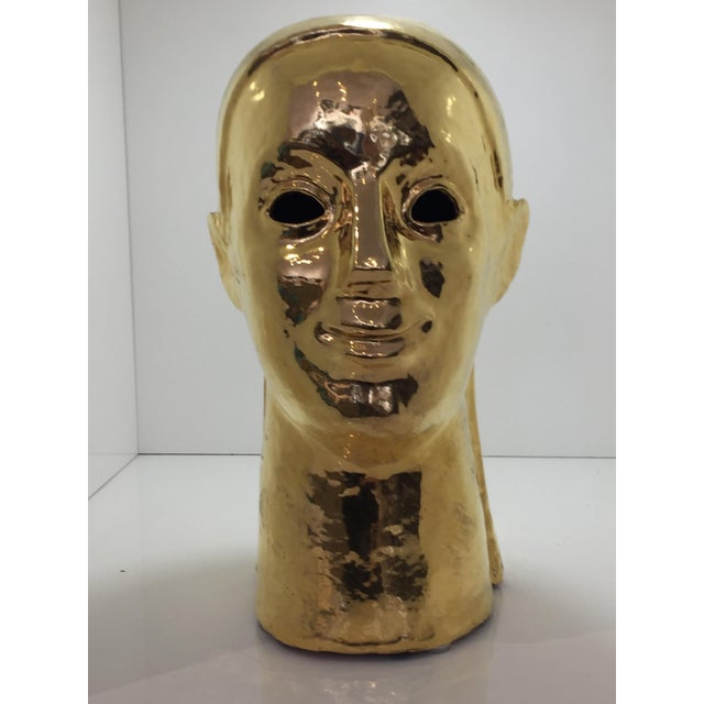 Italian Gold Bust For Sale In San Francisco - Image 6 of 6