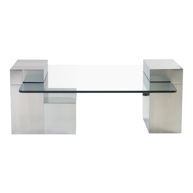 Cityscape Floating Cocktail Table by Paul Evans For Sale