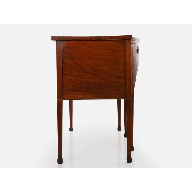Circa 1780 English George III Period Antique Mahogany Sideboard For Sale - Image 4 of 11