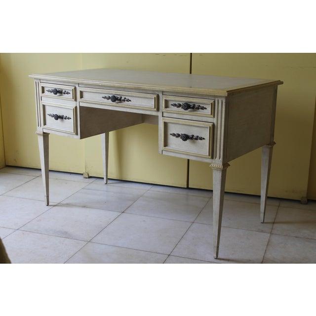 1960s Vintage Ladies Kneehole Writing Desk For Sale - Image 4 of 13