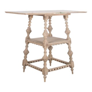 Antique British Flip Top Oak Table For Sale