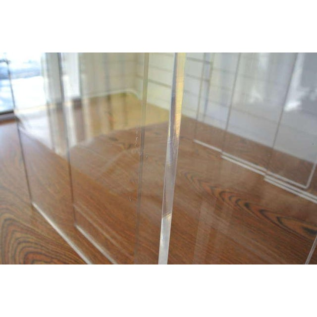 1980s Set of Three Acrylic Lucite Nesting Tables For Sale - Image 5 of 8