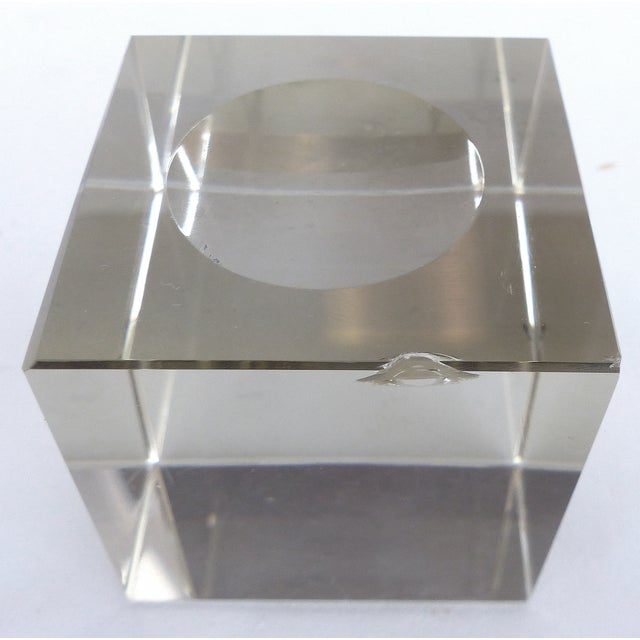 Etched Crystal Globe on Stand - Image 8 of 8