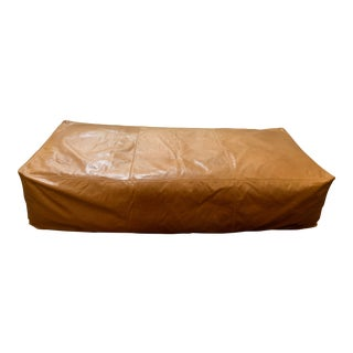 Custom Design New Coleman Large Leather Ottoman For Sale