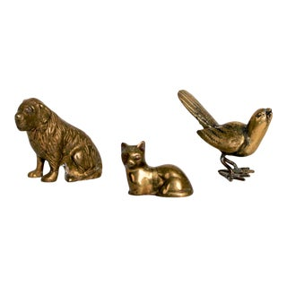 Brass Animals S/3 For Sale