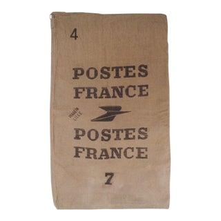 Vintage French Canvas La Poste Mail Bag Sack For Sale
