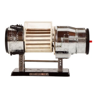 Vintage Mid Century Modern Model Jet Engine Desk Fan For Sale