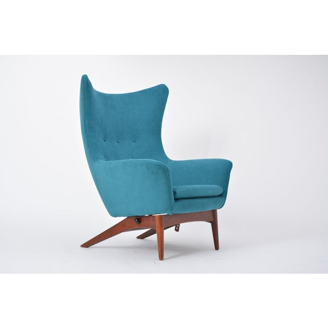 Teak Reupholstered Model 207 Reclining Lounge Chair Designed by h.w. Klein For Sale - Image 7 of 12