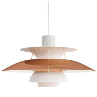 Poul Henningsen for Louis Poulsen Ph5 Mini Copper Pendant For Sale
