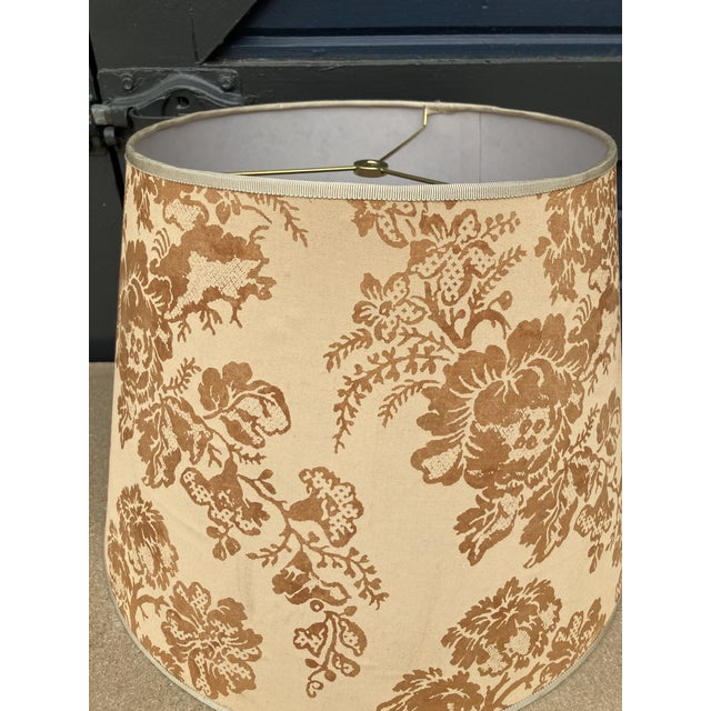 Traditional Brunchwig & Fils Floral Print Fabric Lampshade For Sale - Image 3 of 5