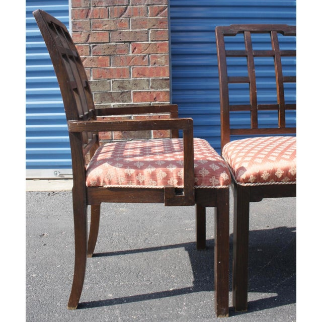 Thomasville Chinoiserie Greek Key Dining Chairs - Set of 6 - Image 3 of 11