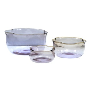 "Set of 3 ""Tulipani"" Blown Glass Nesting Vases by Sergio Asti for Salviati, 2003 For Sale"