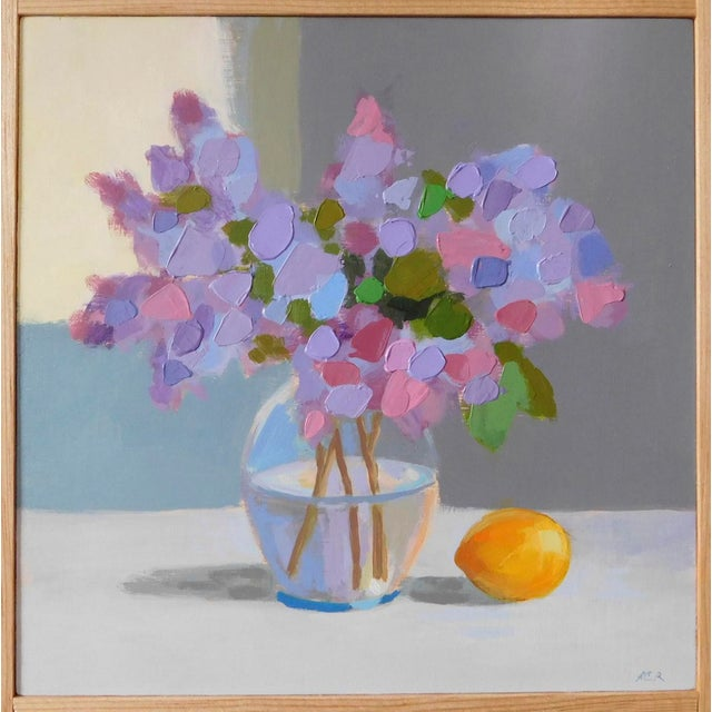 Lilac With a Lemon by Anne Carrozza Remick For Sale