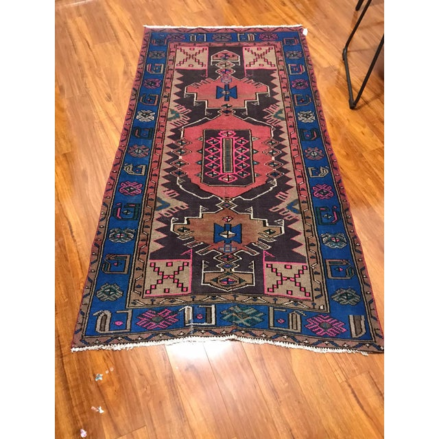 Vintage Turkish Caucasian Rug-3'8'x6'2' For Sale In Houston - Image 6 of 6