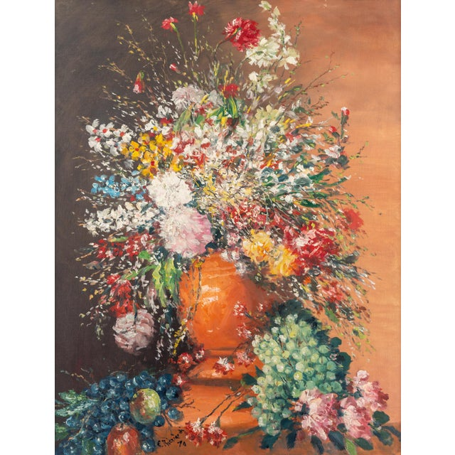 Signed Cesare Riccardi : American 1892-1973 Large Still Life circa. 1970
