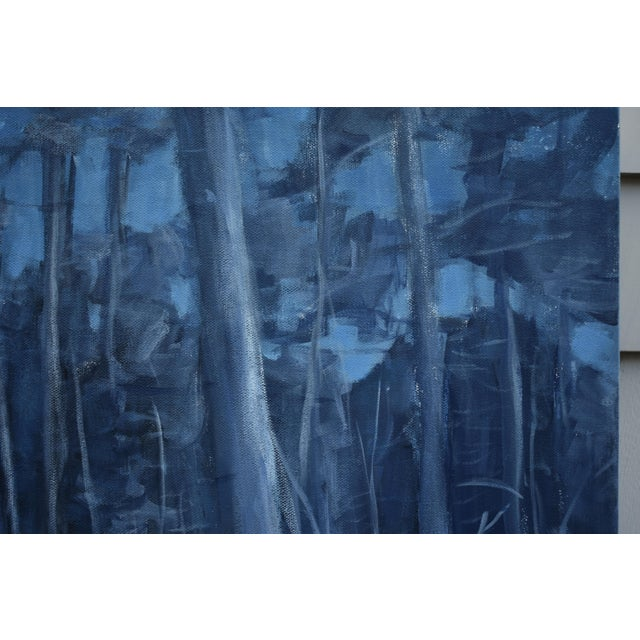 """Stephen Remick Stephen Remick """"Silent Moonlight"""" Contemporary Expressionist Landscape Painting For Sale - Image 4 of 9"""