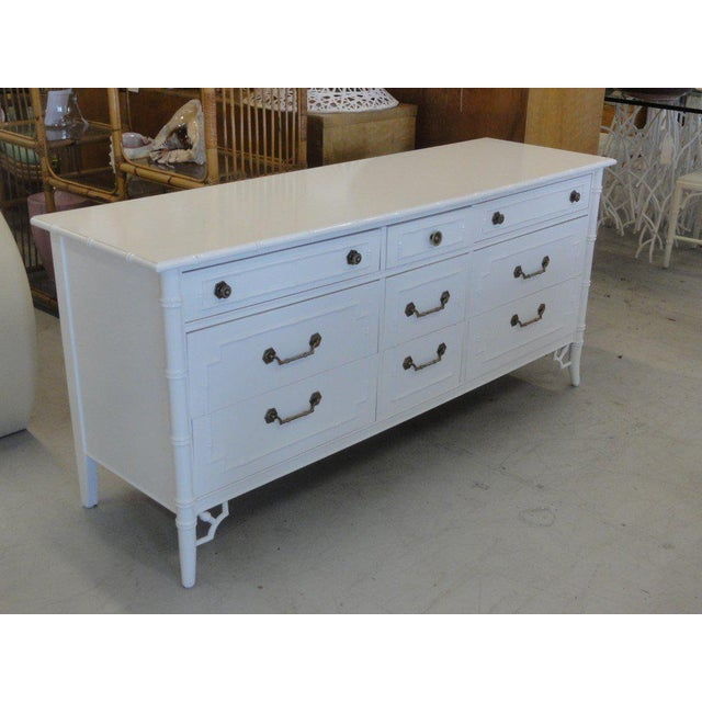 Vintage Newly-Lacquered Faux Bamboo Dresser - Image 5 of 7