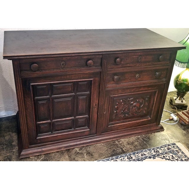 19th Century English Oak Cabinet For Sale - Image 10 of 10
